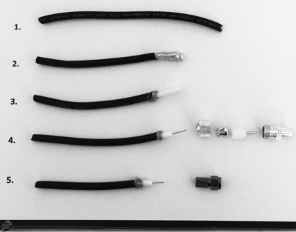 how to terminate a coaxial cable